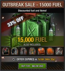 Outbreak Sale - 15000 Fuel