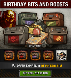 Birthday Bits and Boosts package
