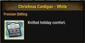 Christmas Cardigan - White