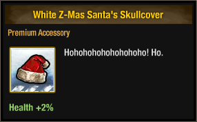 White Z-Mas Santa's Skullcover