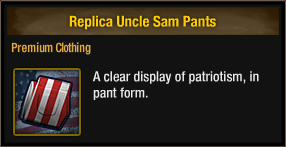Replica Uncle Sam Pants