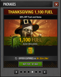 Tlsdz thanksgiving 1100 fuel