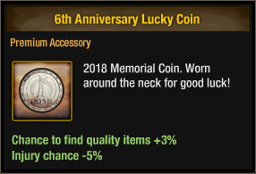 6th Anniversary Lucky Coin