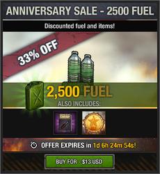 7th Anniversary Sale - 2500 Fuel