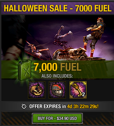 Tlsdz halloween sale - 7000 fuel