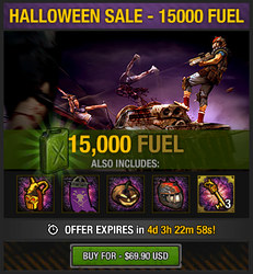 Tlsdz halloween sale - 15000 fuel
