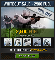 Whiteout Sale - 2500 fuel