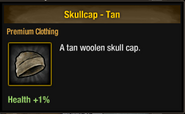 Tlsdz skullcap tan