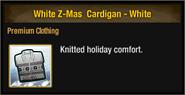 White Z-Mas Cardigan - White