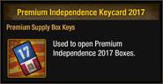 Premium Independence Keycard 2017
