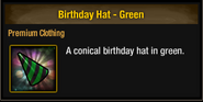 Tlsdz birthday hat green