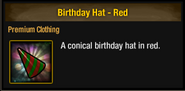 Tlsdz birthday hat red