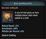 Tlsdz crafting kit - rare swifthand kit