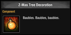 Z-Mas Tree Decoration