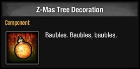 Z-Mas Tree Decoration