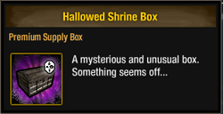 Tlsdz hallowed shrine box