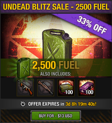 Undead Blitz Sale - 2500 Fuel