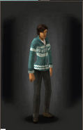Christmas Cardigan - Blue - equipped female