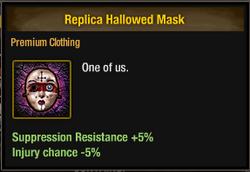 Tlsdz replica hallowed mask