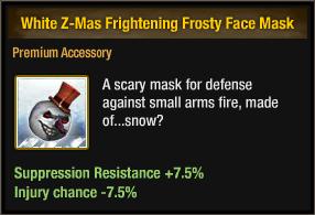 White Z-Mas Frightening Frosty Face Mask