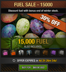 Easter Fuel Sale 2016 - 15000 fuel