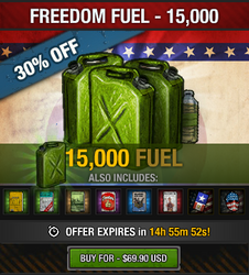 Tlsdz freedom fuel 15000 fuel package