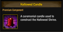 Tlsdz hallowed candle