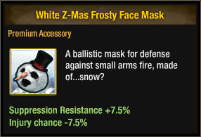 White Z-Mas Frosty Face Mask