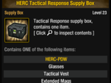 HERC Tactical Response Supply Box