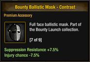 Bounty Ballistic Mask - Contrast