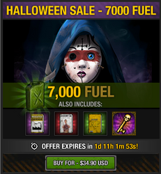 Tlsdz halloween 2014 sale - 7000 fuel