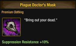 Tlsdz plague doctor's mask