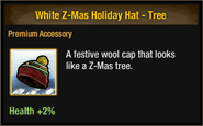 White Z-Mas Holiday Hat - Tree