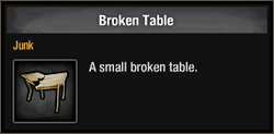 Broken Table
