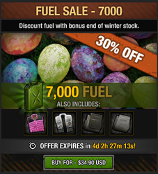 Easter Fuel Sale 2016 - 7000 fuel