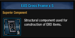 Exo cross frame