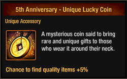 5th Anniversary - Unique Lucky Coin package view