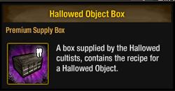 Tlsdz hallowed object box