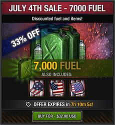 July 4th Sale - 7000 Fuel