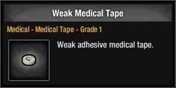 Weak Medical Tape