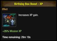 Birthday Box Boost - XP