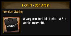 T-Shirt - Con Artist