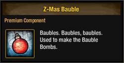 Z-Mas Bauble 2015
