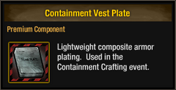 Containment Vest Plate