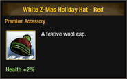 White Z-Mas Holiday Hat - Red