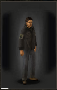 Military Shirt - Black equipped male
