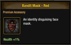 Bandit Mask - Red