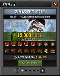 Tlsdz Z-Mas Fuel Sale 15000
