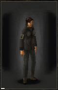 Military Shirt - Black equipped female