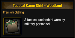 Tactical Camo Shirt - Woodland